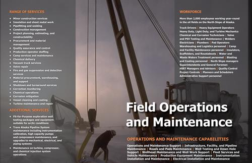 Field Operations and Maintenance Services