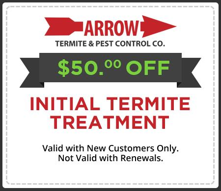 $50.00 OFF New Termite Treatment!