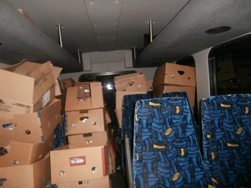 Over 2000 LBS of canned food donations for the Salvation Army from Trunk or Treat 2014.