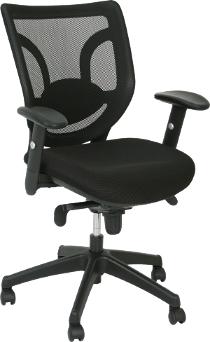 New Black Ergonomic Task Chairs with Adjustable Lumbar Support