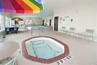 Relax in our indoor heated Saline Pool & Hot tub