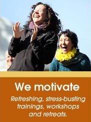 Laughter classes motivate participants! Try a class today!