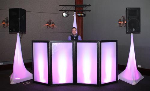 DJ Booth to match your event colors!