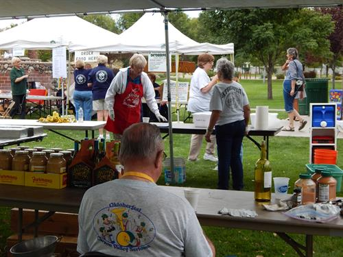 Sertomans set up for Oktoberfest '14
