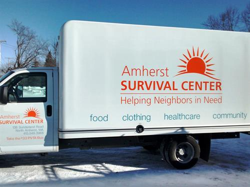 Amherst  Survival Center's new vehicle