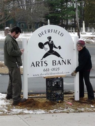 Deerfield Arts Bank installed New Year's Eve 2013