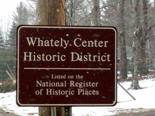 Whately, MA Historic District marker