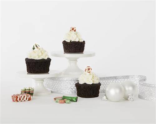 Celebrate your holiday with a Chocolate Mint Cupcake.