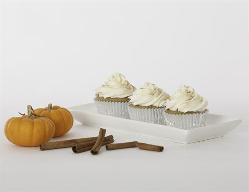 A delicious taste of fall. Our pumpkin spice cupcake incorporates the flavors of pumpkin, cinnamon, cloves and nutmeg.