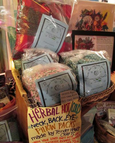 folks have been asking, and we have listened -- try these herbal hot/cold packs!