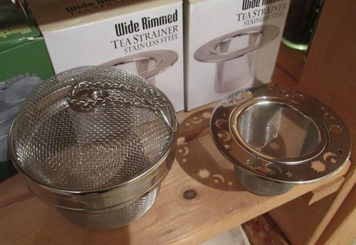 a couple of our larger tea infusers -- we have a variety!