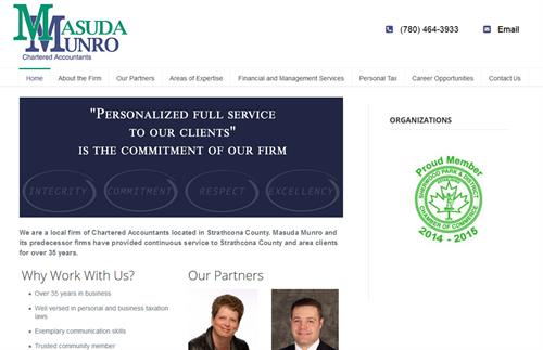 Small Business Site: Masuda Munro Chartered Accountants