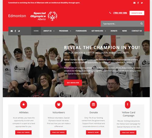 NPO Web site: Special Olympics Edmonton