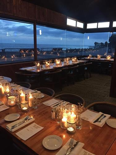 Make your celebration amazing on our enclosed ocean front patio