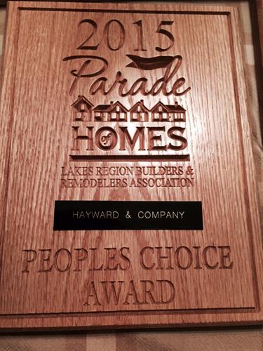 People's Choice Award 2015 Winner Hayward & Company