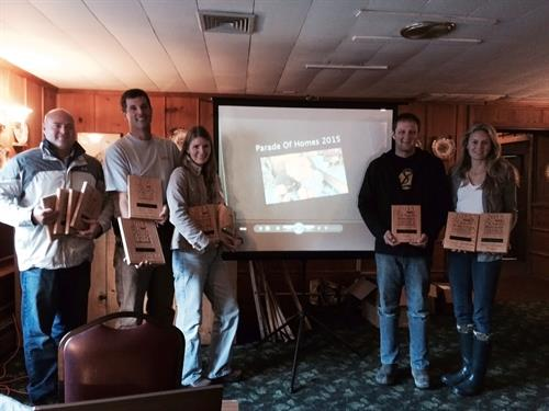 Parade of Homes Awards of Excellence Winners! 2015