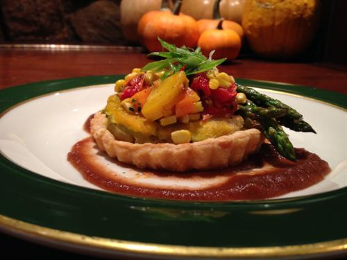 Squash and Asparagus Tart