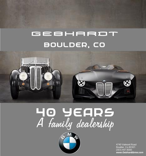 From our family here at Gebhardt BMW to yours, Thank You Boulder for 40 Fantastic Years!