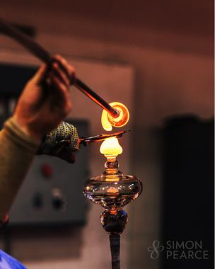 Enjoy watching our glassblowers create the one-of-a-kind pieces handmade at Simon Pearce.