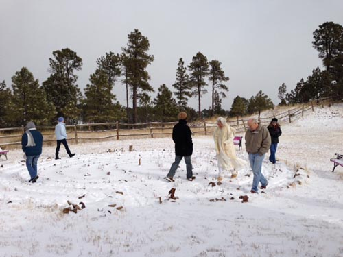 Walking the labyrinth, Winter Solstice 2013