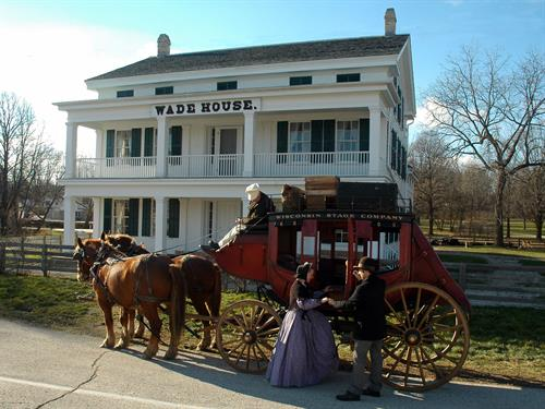 The Stagecoach arrives at Wade House