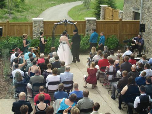 Wedding on the Back Patio