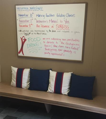 Check out our bulletin board to stay up with office happenings!