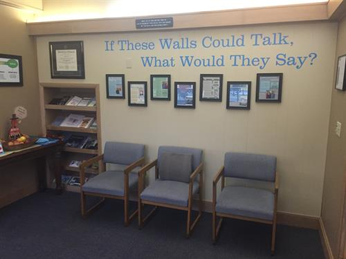 Our patient testimonial wall, it speaks for itself!