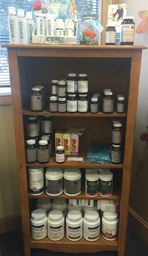We have lots of nutritional supplements and other products to keep you healthy as you can be!