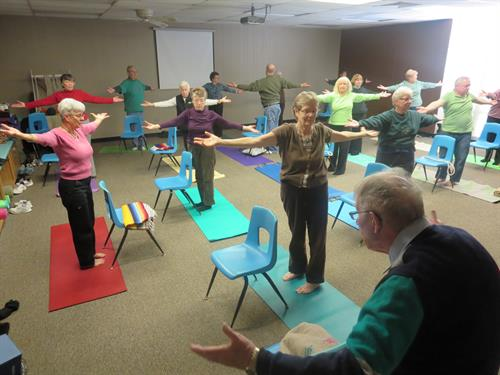 Yoga classes Mondays and Wednesdays