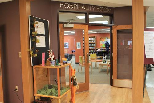 Newly renovated hospitality area