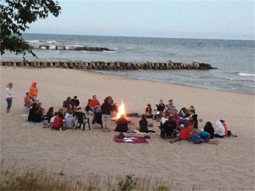 campfires on the beach! there's a pit ready for you and your family to use!