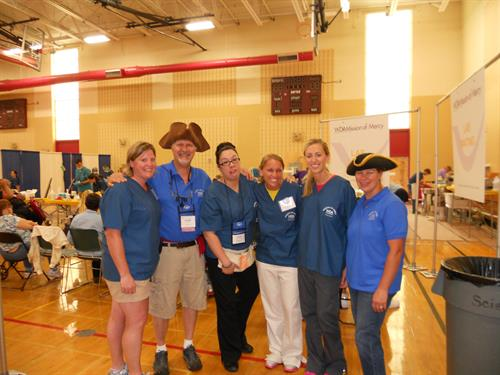 Midwest Dental in Sheboygan participates in the Mission of Mercy each year. Pictured here in 2013.