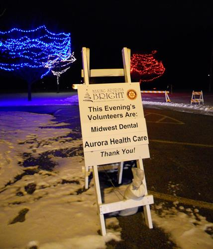 Midwest Dental sponsored the 2013 Rotary Lights display in Sheboygan.