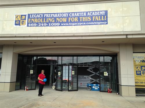 Banners Up - New Plano Location!