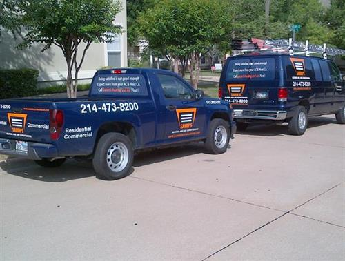 Samm's Heating and Air Vehicles