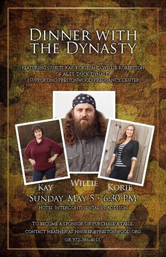 Dinner with the Dynasty featuring guests Kay, Korie, and Willie