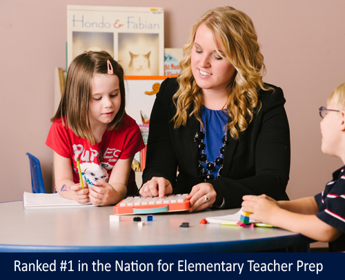 Ranked #1 in the Nation for Elementary Teacher Preparation