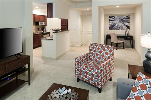 Furnished apartment homes available at our communities in Dallas.