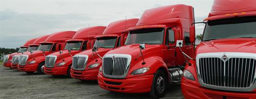 New International trucks in the CIS fleet
