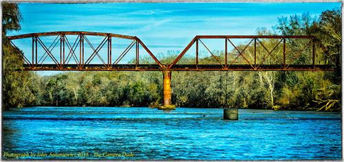 Railroad bridge over the Flint River