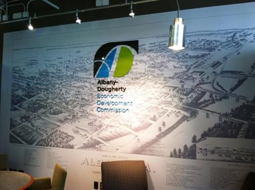 Albany-Dougherty Economic Development new wall covering.