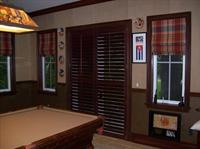 Wood Shutters and Roman Shades
