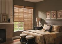 Wood Blinds with Keystone Cornice