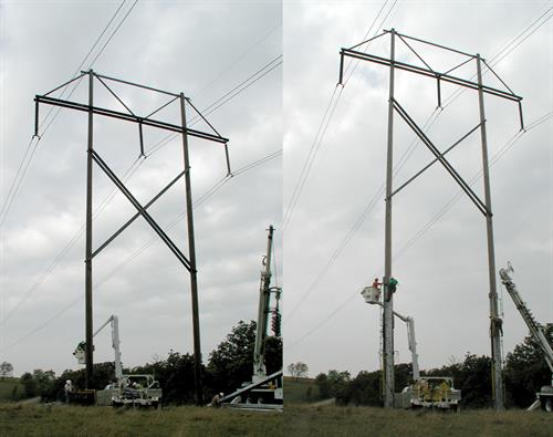 Before & After PhaseRaiser® Structure Raised 15'