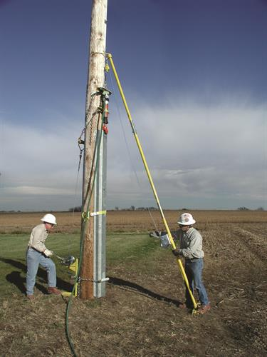 Crew Installing the PoleEnforcer®