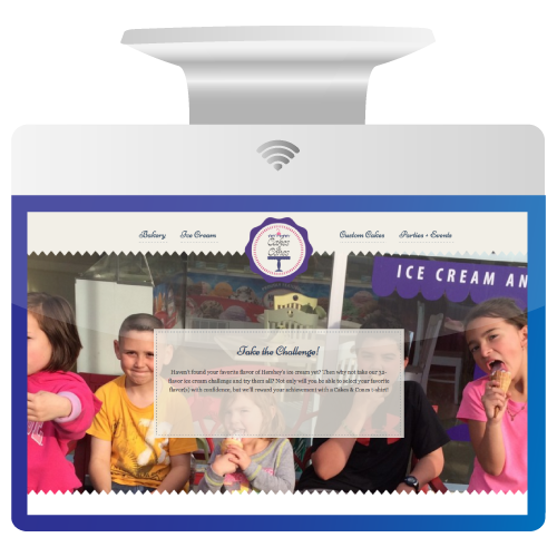 Website Design for Cakes and Cones Ice Cream and Bakery in Lewisburg
