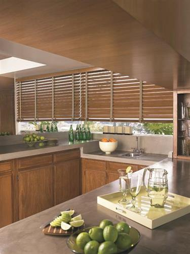 Faux wood blinds - perfect for humid areas!