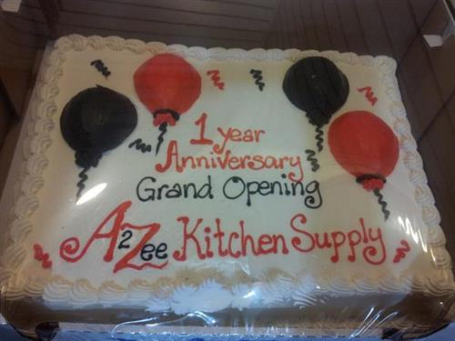 Our cake from our stores One Year Anniversary On July 12, 2013. We had our Official Grand Opening that week it was a blast!!