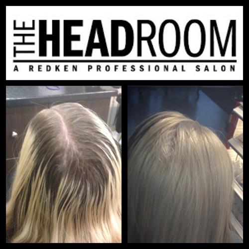 Before and after. A root touch up and glaze with a Redken customized color by The Headroom!
